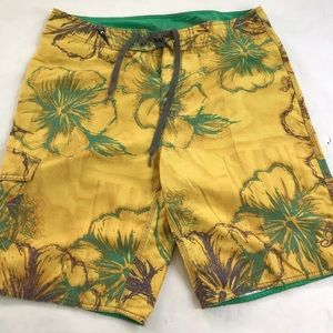 5/$20 Rip Curl Swim Trunks 34 Yellow Green